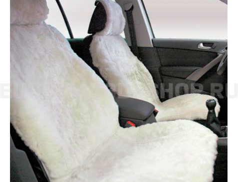 Меховая накидка из натуральной овчины Euromat Tex (цельная стриженная ) белая № EUSH-002004