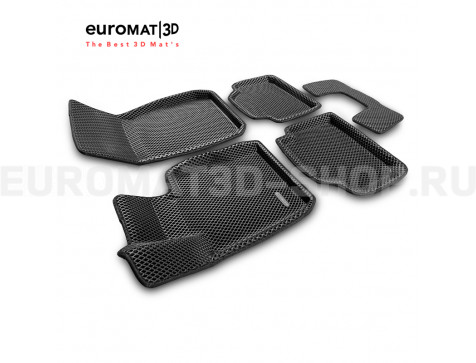 3D коврики Euromat3D EVA в салон для Bmw 3 (F30) X-Drive (2010-2018) № EM3DEVA-001223